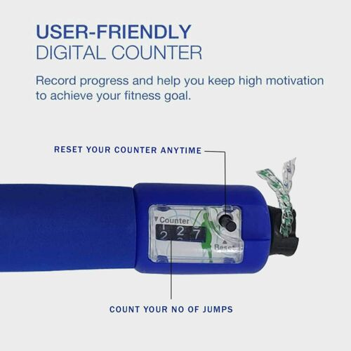 Skipping Rope Digital Counter Foam Handle Fitness Sports Speed Jumping Exercise