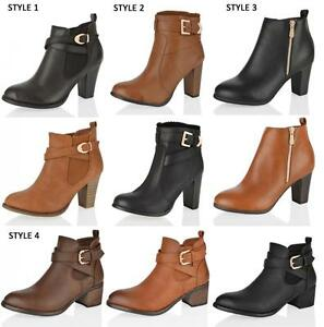 free shipping big discount buy cheap fashion Style Tan mid block heel ankle boots sneakernews sale online outlet store IqTszg9