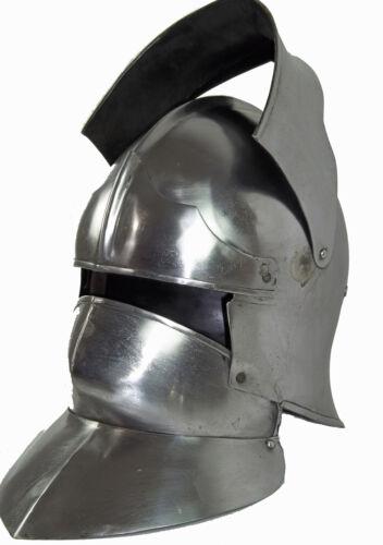 Schaller mit Halsberge Helm Mittelalter Rüstung Karneval Ritterhelm LARP MMP338