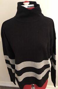 Cotton-On-Black-Grey-Striped-Size-Med-Jumper-Rrp-49-95