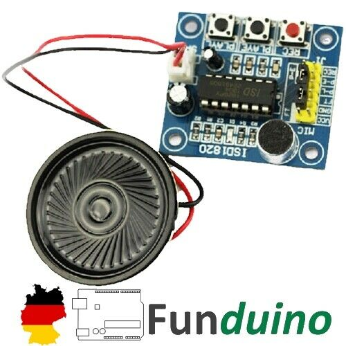 ISD1820 Sprachrekorder//Playback Modul Arduino//Raspberry Pi Mikrocontroller