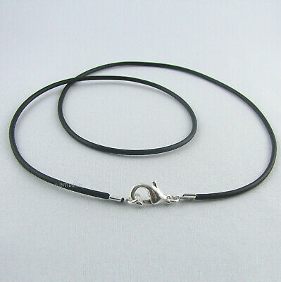 Halskette kurz mittel lang Damenkette Herrenkette Band silber Kette schwarz
