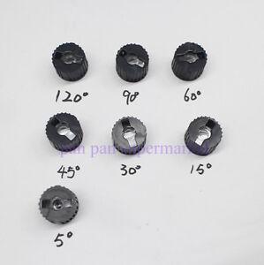 10pcs 5 15 30 45 60 90 120 Degree Angle LED Lens w/20mm Holder Flat Transparent