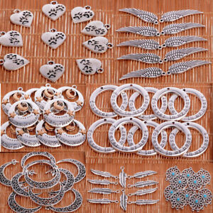 Jewellery-Making-Crafts-Silver-Beads-Charms-Pendants-For-Necklace-Bracelet-10pcs