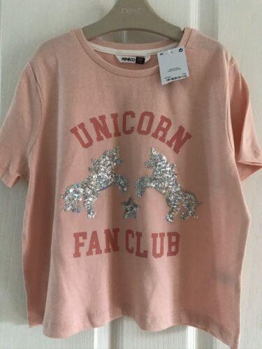 BN Ragazze Unicorno Rosa Motivo Top Età 8-9 anni