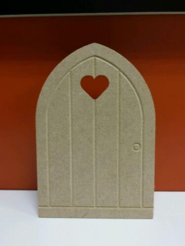 10 x portes en bois mdf fée 15 cm x 10cm gravé Coeur Découpé