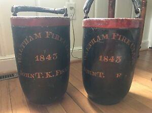 Antique-Fire-Buckets-Waltham-Fire-Co-1843-John-T-K-Fiske