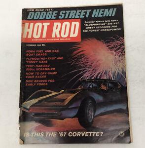 Vintage HOT ROD Magazine December 1965 Edition Corvette, Dodge Hemi, HRM Rd Test