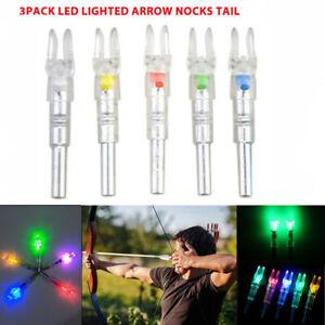 3pcs 6.2mm Automatically LED Shooting Lighted Arrow Nock Compound Bow Arrow