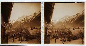 Chamonix Stereo Amateur Targa Di Vetro Pos. 1936 Vintage