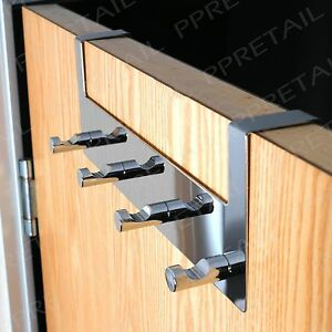 Delightful Image Is Loading 4 Hook Over Door Hanging Rail Chrome FOR