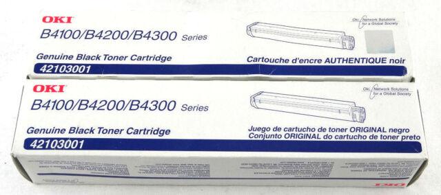 Genuine OKI 42103001 Toner Cartridge Qty. 2 Brand New OEM Sealed Free Shipping