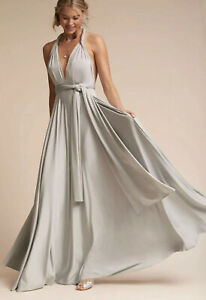 NEW-BHLDN-TWOBIRDS-GINGER-CONVERTIBLE-MAXI-DRESS-SIZE-A-SILVER-GRAY