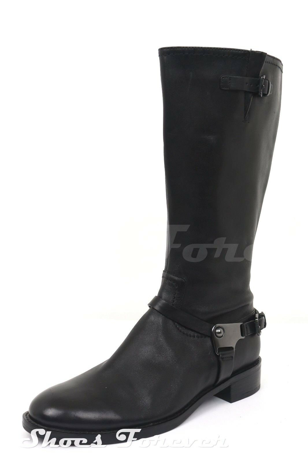 Womens Womens Womens ECCO Black Leather Knee High Boots Sz 40 NEW ef6f14