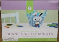 Easter 6 Decorate-your-own Bunnies With Carrots Kids Craft Kit Foam Stickers