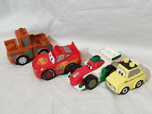 4-Lego-Duplo-Disney-Pixar-Cars-Lot-Vehicles-McQueen-Tow-Mater-Guido-Luigi-Lot