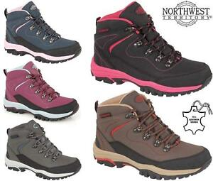 Ladies-Womens-Leather-Walking-Hiking-Waterproof-Ankle-Boots-Trainers-Shoes-Size
