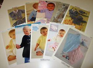 Lot of 10 Sirdar DK knitting yarn patterns for Babies and Children Birth - 8 yrs