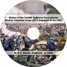 12th Pennsylvania Reserves, 41st Infantry - 1890 Civil War History Book on CD