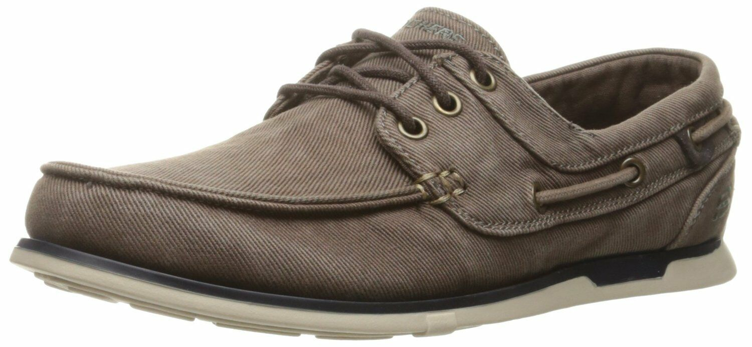 Men's SKECHERS RELAXED FIT  Eris - Inaldo Boat shoes, 64763 BRN Size 11.5 Brown