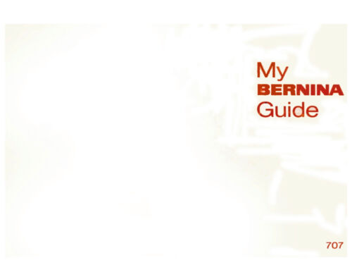 BERNINA 707 MINIMATIC INSTRUCTION Book //OPERATING MANUAL in color CD //PDF