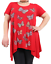 Plus-Size-Ladies-Short-Sleeve-Butterfly-Print-Dip-Hanky-Hem-Casual-T-Shirt-Top thumbnail 9