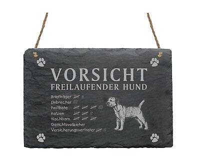 Angemessen Schiefertafel « Border Terrier - Vorsicht - Freilaufender Hund » Schild Garten Angenehm Im Nachgeschmack