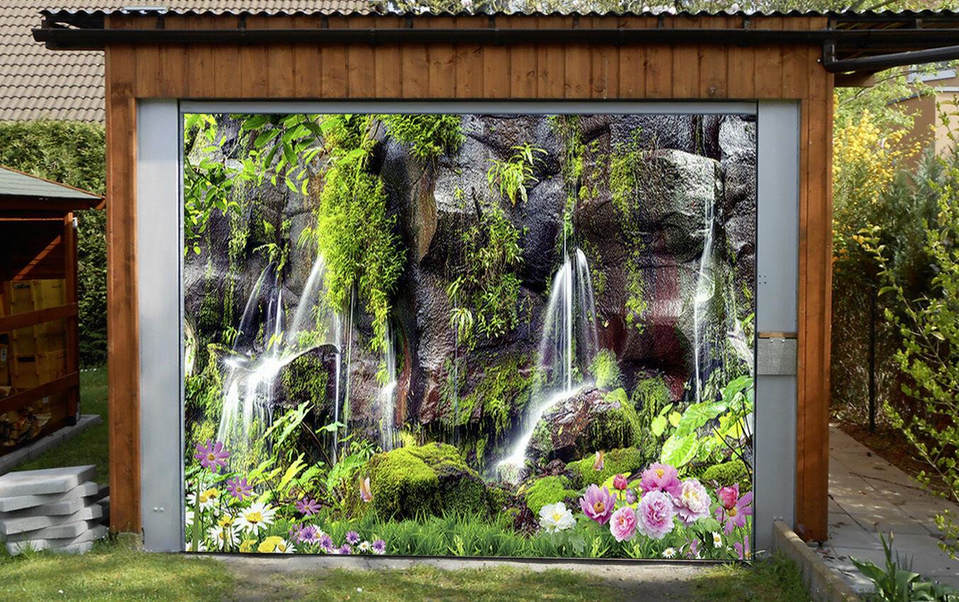 3D Gurgling stream Garage Door Murals Wall Print Decal Wall Deco AJ WALLPAPER UK