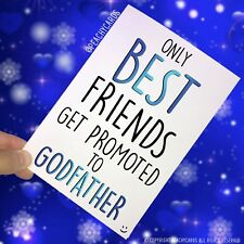 Godfather Card Proposal Cards Best Friends Promoted To Godfather Godparent PC462