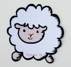 CUTE PRETTY BLACK SHEEP Embroidered Iron on Patch Free Shipping