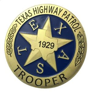United StatesTexas Highway PatrolTrooperGold Plated Challenge Coin U.S