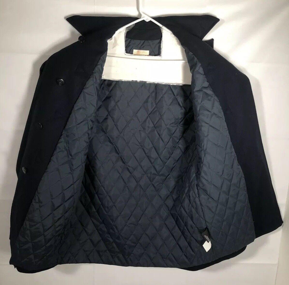 Pendleton Vintage Blue Wool Luxury Toggle Duffel … - image 7
