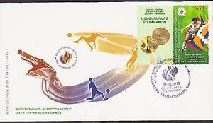 Hospitable Rare Nagorno Karabakh Armenia Panarmenian Games Football Soccer 2015 Fdc R15652 Pretty And Colorful Asia