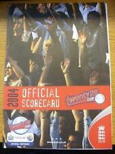 13/07/2004 Cricket Scorecard: Leicestershire Foxes v Nottingham Outlaws [Twenty2