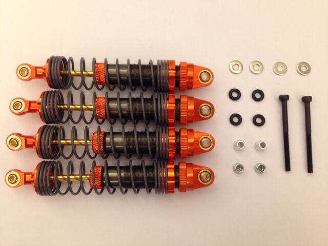 Fumi Alloy Front / Rear Shock Set (4) for 1/10 Bullet MT - 26211or (ORANGE)