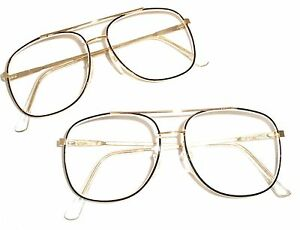 b56203034ab GOLD   BLACK OR GOLD   BROWN AVIATOR READING GLASSES CHEATERS SPECS ...