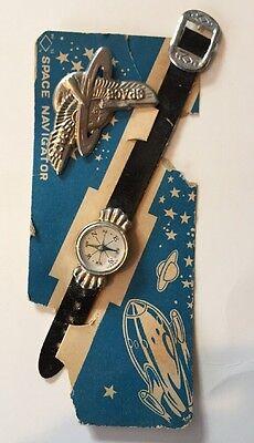 RARE TOY ANTIQUE 1950's SPACE NAVIGATOR-COMPASS WATCH & PIN SET-JAPANESE/JAPAN