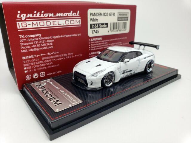 1:64 Ignition Nissan Skyline GT-R R35 PANDEM White JDM IG1745 Japan Limited GTR