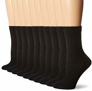 Hanes-Cushioned-Women-039-s-Crew-Athletic-Socks-10-Pack