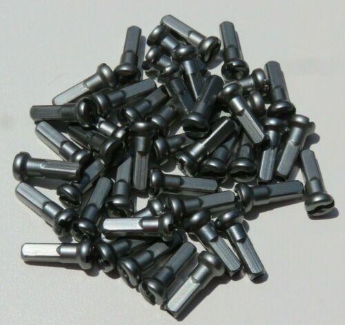 14 Mm Gun Metal Gray Alliage Aluminium Spoke Nipple 14 g custom montants 2.0 mm