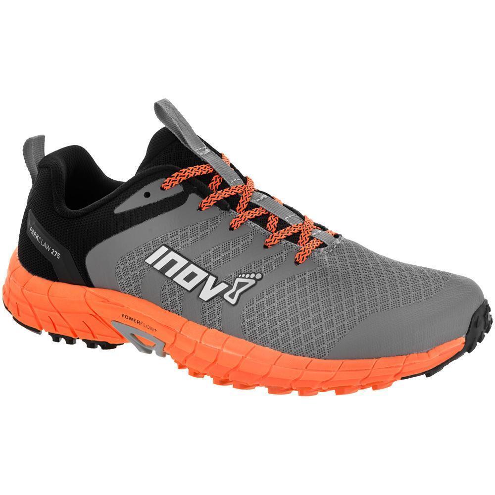 Inov 8 Park Claw 275 Grey orange Mens Running shoes