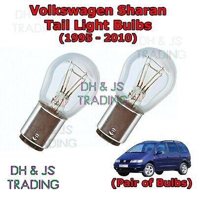 2x VW Sharan MK1 Genuine Osram Original Reverse Light Bulbs Pair