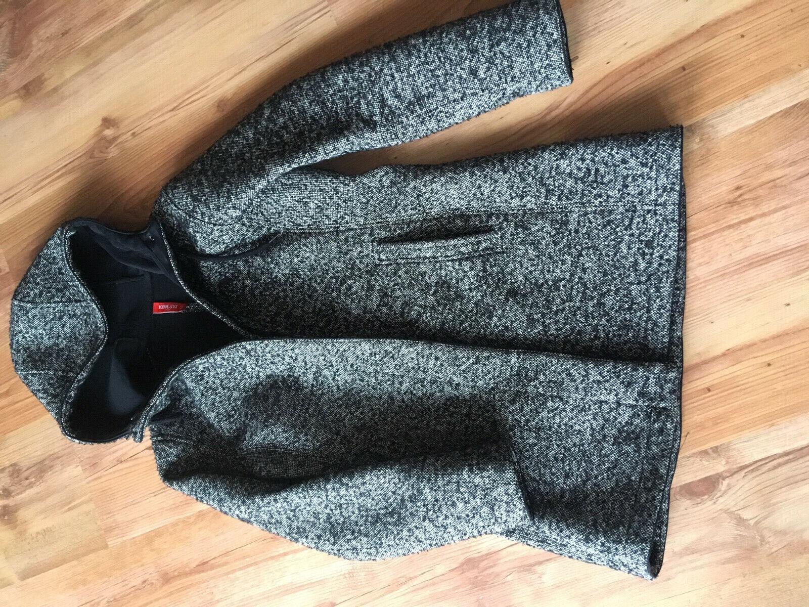 Tatonka Jemma Coat Mantel Größe 40 schwarz-weiß