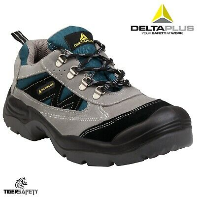 Deltaplus Mens Mazan Wide Fit Steel Toe Grey Leather//Suede Safety Trainers Shoes US Size 12