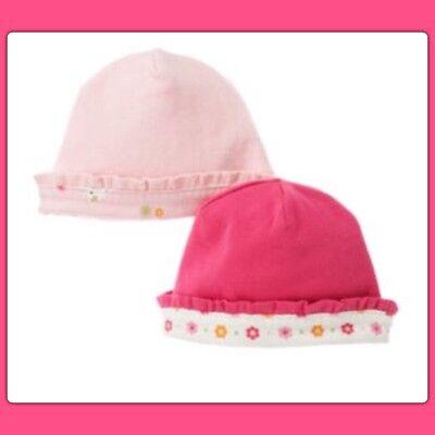 New Gymboree Brand New Baby Girl Pink Polka Dot Cap Hat Cap 5-9 lbs 0-3 Months