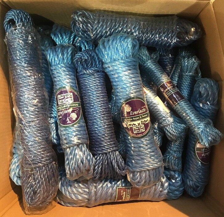 Gemischte Box Of 25 25 25 Garnsträhne Blau Polypropylen Poly Seil 6MM 8MM 10MM 12MM d56ca8