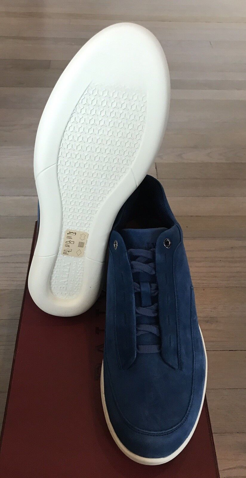 600  Bally Avier 120 Prussian bluee Suede Sneakers Sneakers Sneakers size US 10 Made in  1441ab