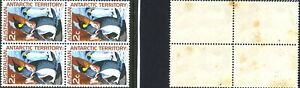 Australian-1966-Hinged-Penguin-Stamps-Block-4x-2c-1st-Decimal-Antarctic-issues