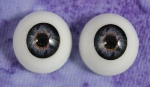 22 mm Pabol BLUE Cobalt Reborn Doll Eyes Half Round Acrylic