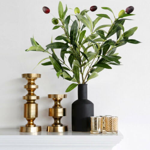 Artificial Leaf Olive Tree Branch Fake Green Plant Greenery Wedding Home Decor
